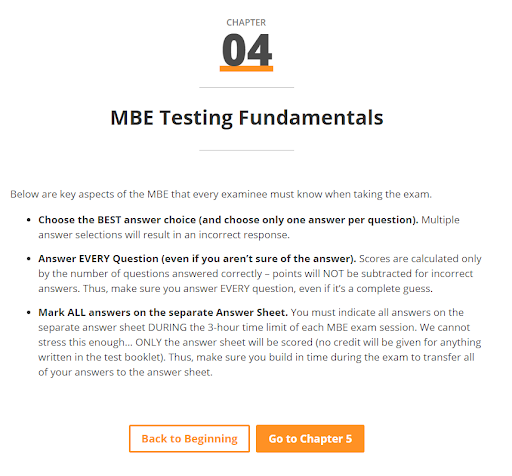 MBE Testing Fundamentals - Smart Bar Sheets